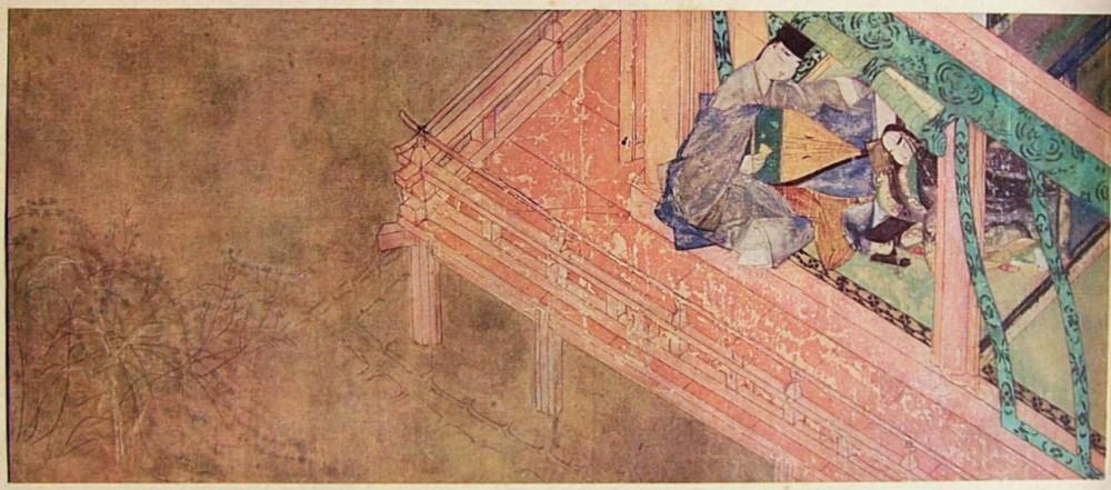 Genji Monogatari Emaki, détail, XIIe siècle, Tokugawa Art Museum