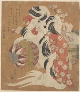 Surimono dog year 1814
