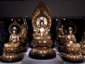 Réplique du mandala du Toji, commandée par Émile Guimet, Yamamoto Yosuke et son atelier, bois polychrome laqué et doré avec parures de métal et incrustations de verre, 1877 (fonds du musée Guimet)