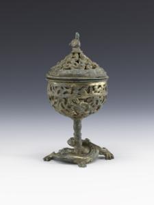 Brûle-parfum, bronze, dynastie Han (IIIe siècle avant - IIIe siècle après J.-C.), musée de Shanghai© Musée de Shanghai
