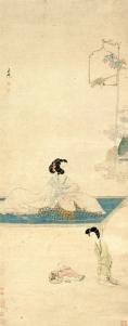 Femme parfumant ses manches, Chen Hongshou, encre et couleurs sur soie, dynastie des Ming (XIVe s. – XVIIe s. apr. J.-c.), musée de Shanghai © Musée de Shanghai