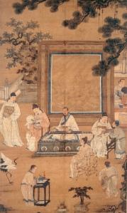 Les dix-huit lettrés, anonyme, encres et couleurs sur soie, 134,2 x 76,6cm, Dynastie des Ming, musée de Shanghai © Musée de Shanghai