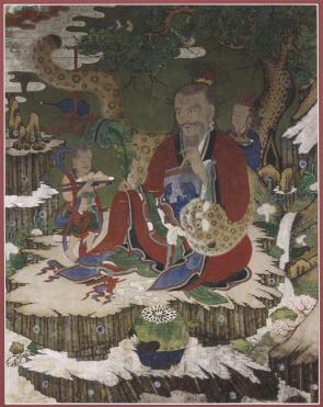 Sansin, peinture bouddhique_XVIII-XIXe s_encre et cou sur soie_96x73cm_Guimet