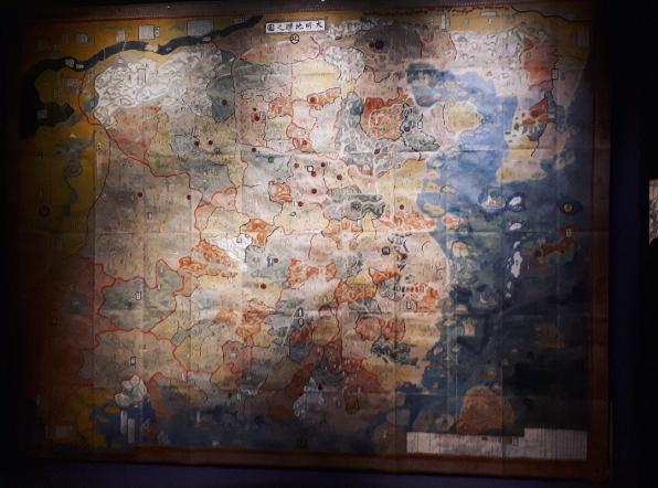 Carte du territoire de la dynastie Ming