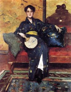 Chase_William_Merritt_The_Blue_Kimono_1888