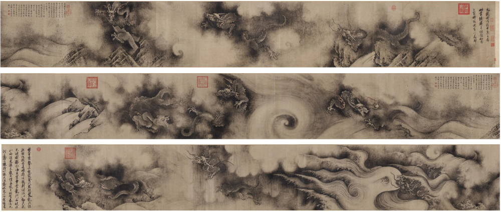 Chen Rong_Neuf dragons rouleau_1244_encre sur papier_Chine_46.8x1496.5cm_MFA