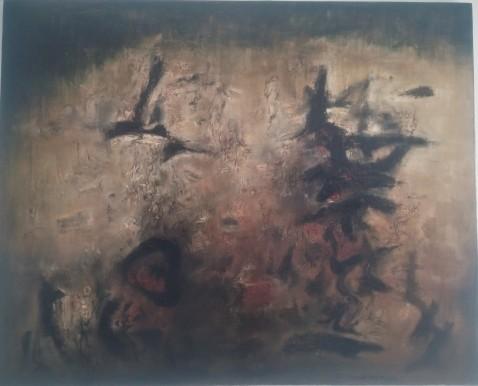 Zao Wou-Ki, Nous deux, 1957, huile sur toile, collection particulière.
