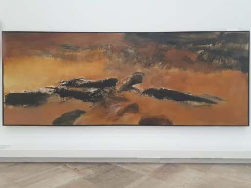 Zao Wou-Ki, 10.09.72 – En mémoire de May (10.03.72), 1972, huile sur toile, 200x525,7 cm, Don de l'artiste à l'Etat en 1973, MAM.