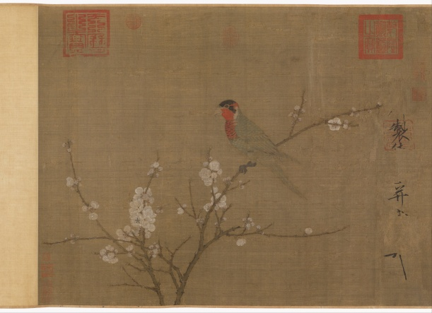 Emperor_Huizong_-_Five-colored_parakeet_on_a_blossoming_apricot_tree_-_Google_Art_Project