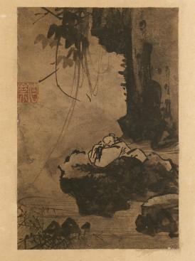 Kang Huian (1417-1464), Painting of a Lofty Scholar Contemplating Water, Joseon, NMK