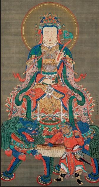 Itō Jakuchū, Bodhisattva Manjusri, 1765, Shōkokuji, Kyōto