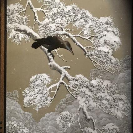 Shimada Bokusen (1867-1943), Sous une pluie d'été (détails), entre 1848-1914, musée Guimet. Photo: Manon Sarda