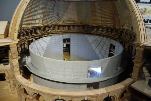 Détail de la structure en béton de Tadao Ando pour la Bourse de Commerce