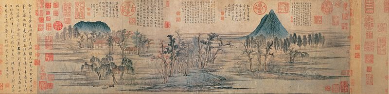 800px-2a_zhao_mengfu_autumn_colors_on_the_qiao_and_hua_mountains_(central_part)handscroll,_ink_and_colors_on_paper,_28.4_x_93.2_cm_national_palace_museum,_taipei